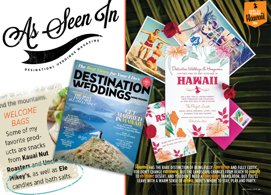 "Destination Wedding Magazine Article ""How to Get Married in Hawaii"""