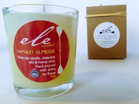 Hand made in Kauai candles by Ele